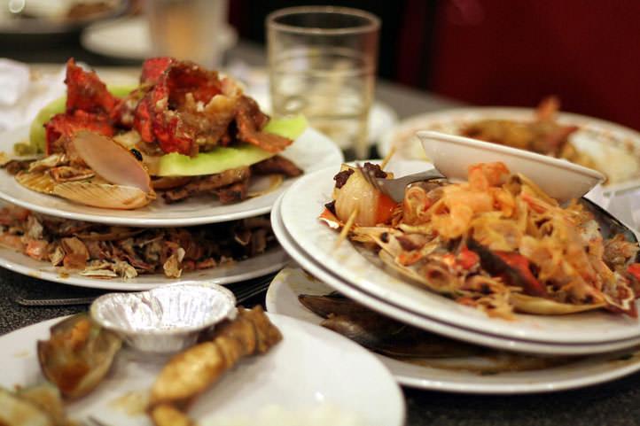 Reducción de los desechos de un restaurante
